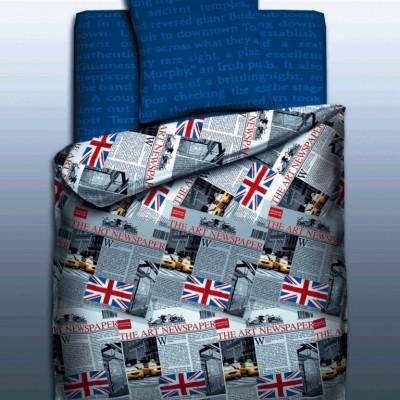 """Детский 1,5 спальный комплект постельного белья """"Britain""""  """"Unison Teens"""" Биоматин"""