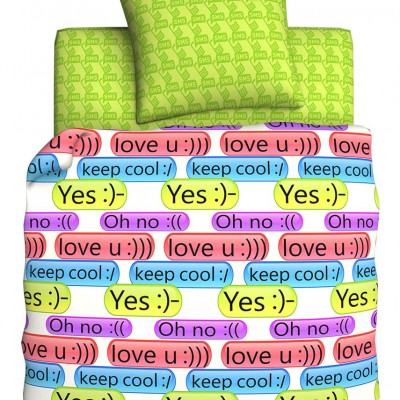 """Детский 1,5 спальный комплект постельного белья """"SMS"""" """"Unison Teens"""" Биоматин"""